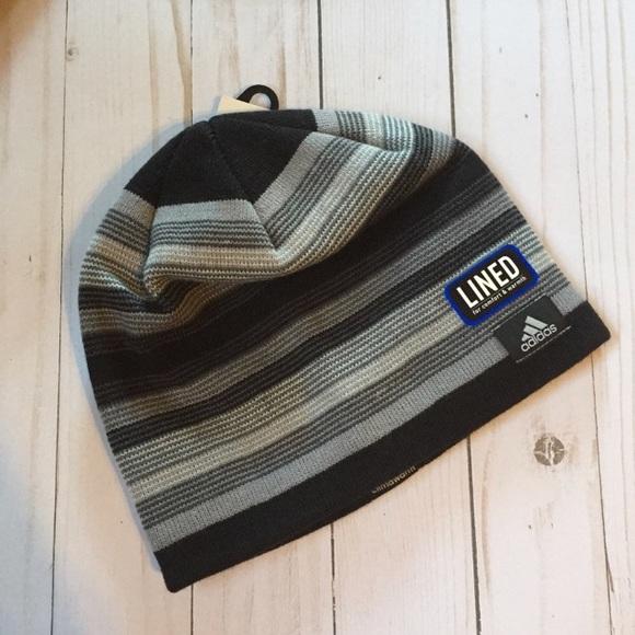 ad540230e18 Last one! Adidas lines striped beanie